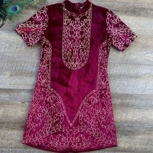 Soft Dress with Decorative Gold design